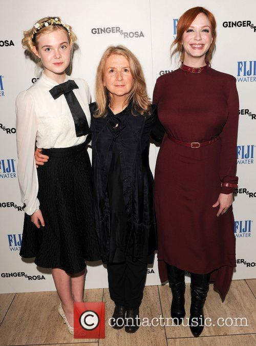 Elle Fanning, Sally Potter and Christina Hendricks 8