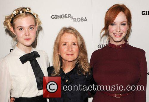 Elle Fanning, Sally Potter and Christina Hendricks 5
