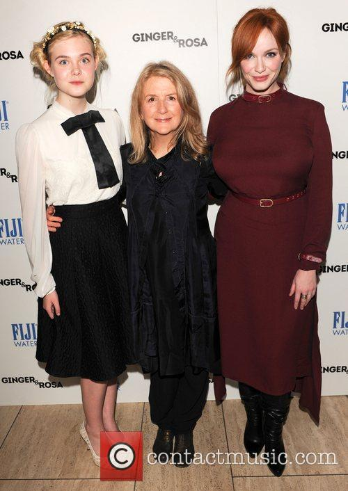Elle Fanning, Sally Potter and Christina Hendricks 9