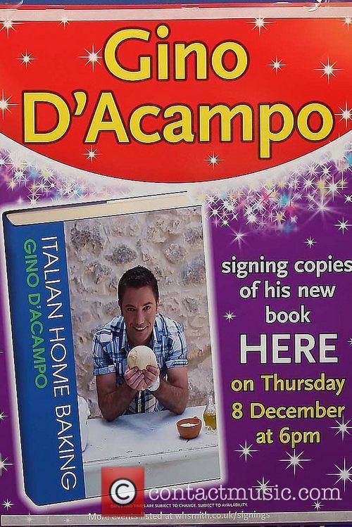 Gino D'Acampo signs copies of his book 'Italian...