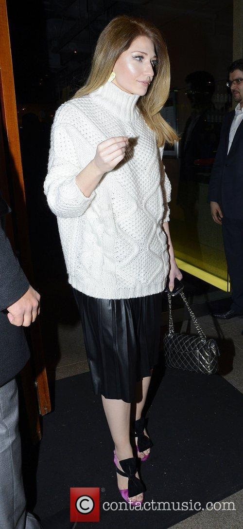 Nicola Roberts leaving Zuma restaurant London, England