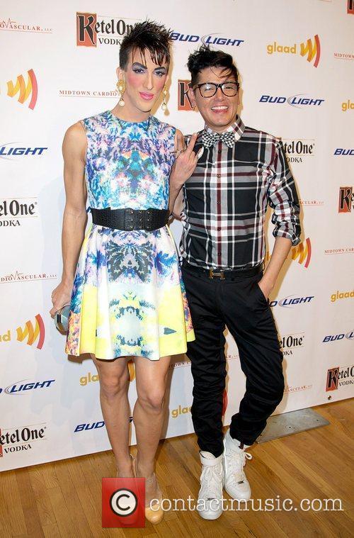 Marti Gould Cummings and DJ Javier GLAAD Art...