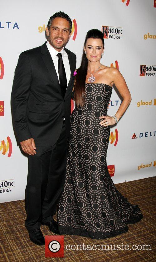 Kyle Richards and Guest The 23rd Annual GLAAD...