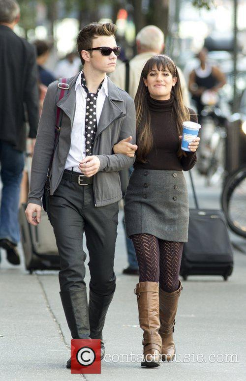Chris Colfer and Lea Michele 4