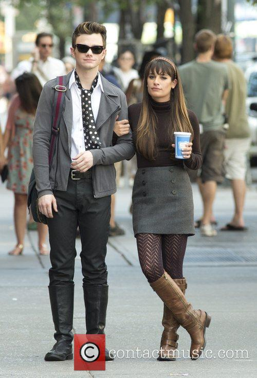 Chris Colfer and Lea Michele 6