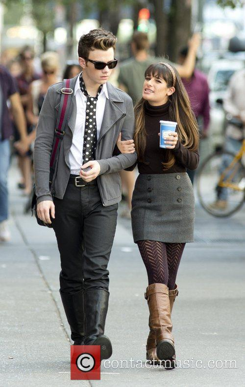 Chris Colfer and Lea Michele 8