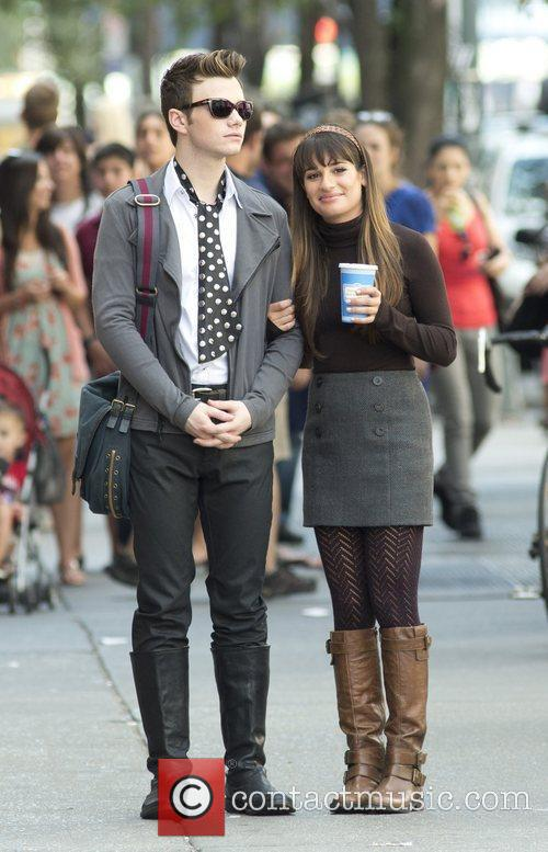 Chris Colfer and Lea Michele 9