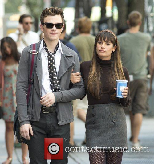 Chris Colfer and Lea Michele 10