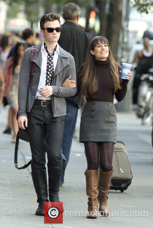 Chris Colfer and Lea Michele 11