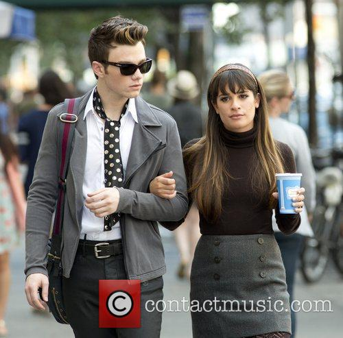 Chris Colfer and Lea Michele 12