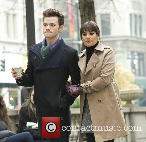 Chris Colfer and Lea Michele 2