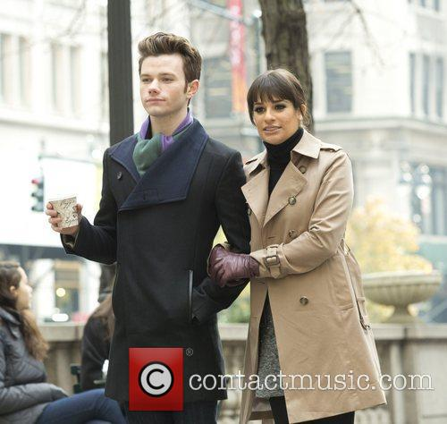 Chris Colfer and Lea Michele 5
