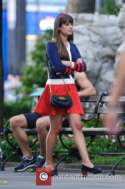 lea michele on the set of glee 4030251