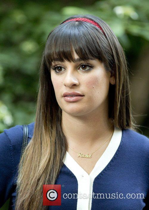 lea michele on the set of glee 5892827