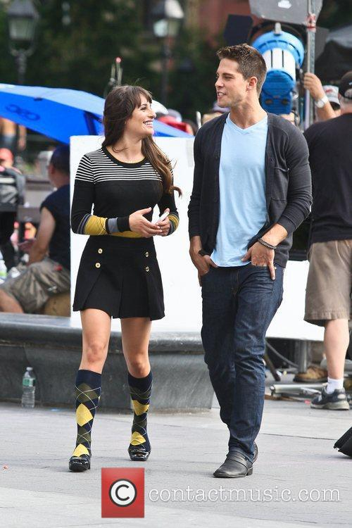 dean geyer and lea michele on the 5892269