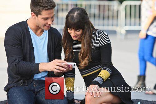 dean geyer and lea michele on the 5892274