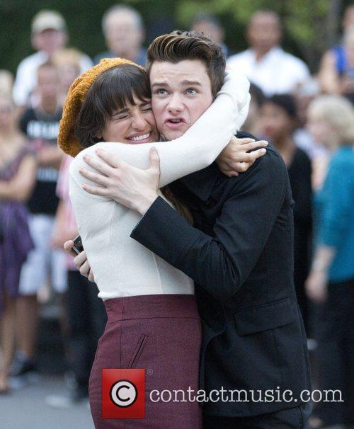 Lea Michele and Chris Colfer 2