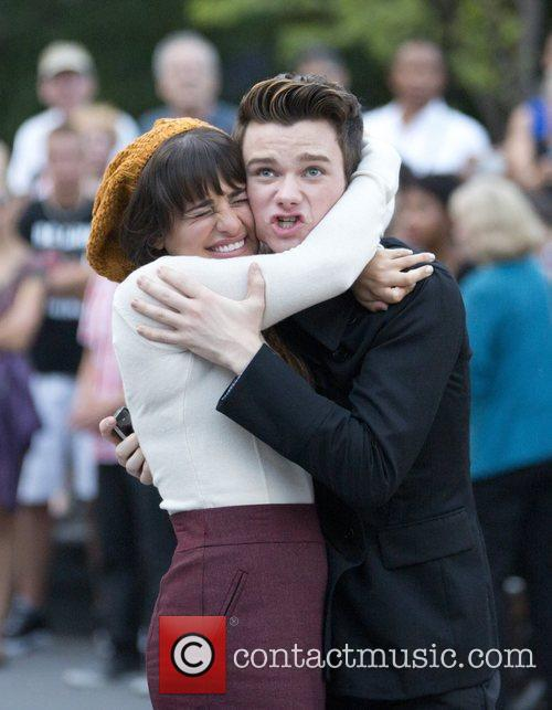 Lea Michele and Chris Colfer 3