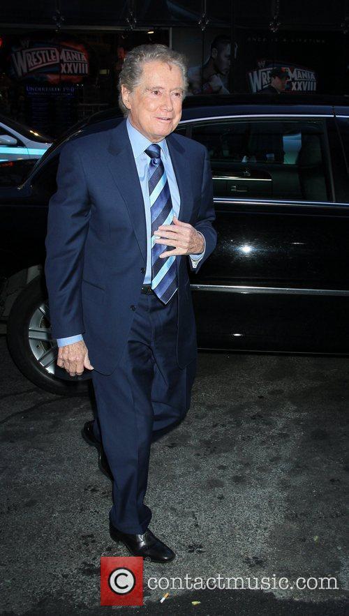 Regis Philbin outside ABC Studios for 'Good Morning...