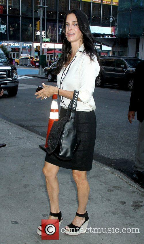 Courteney Cox outside ABC studios ahead of her...