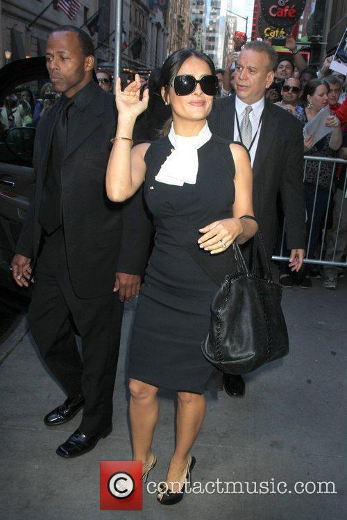 salma hayek celebrity arrivals at abc studios 5870056