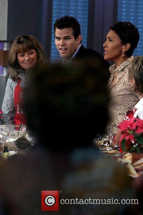 Kris Humphries, Robin Roberts and Good Morning America 2