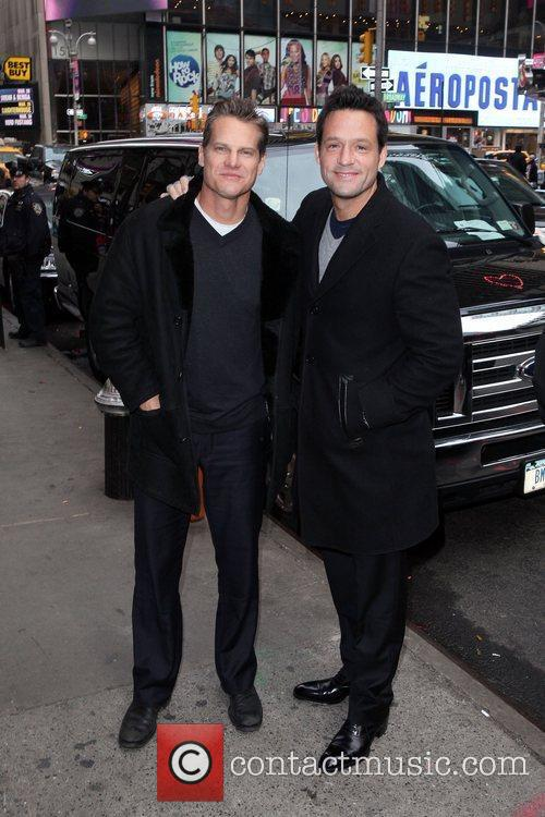 Brian Van Holt and Josh Hopkins The stars...