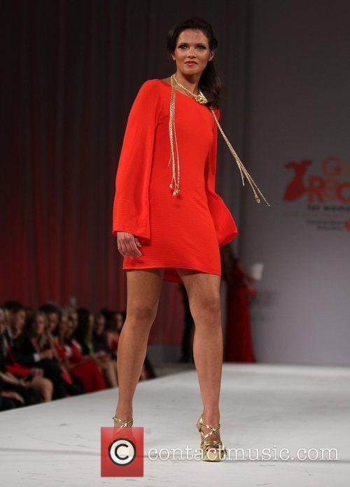Model Style Fashion Week Hosts Go Red For Women Celebrity Red Dress Fashion Show At Vibiana