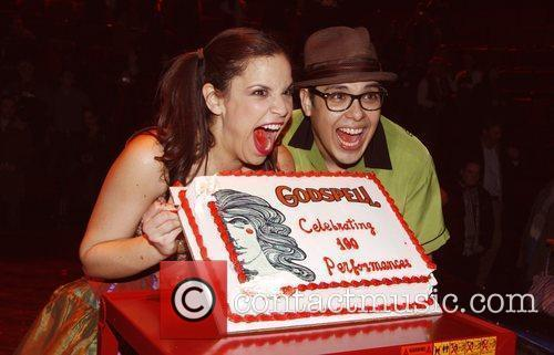 Lindsay Mendez and George Salazar The 100th Performance...