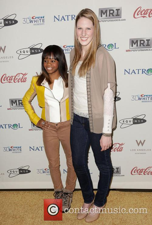 Gabby Douglas and Missy Franklin 3