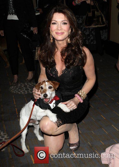 Lisa Vanderpump with Uggie 1st Annual Golden Collar...