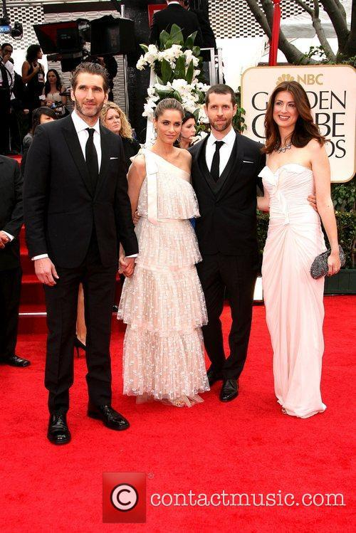 David Benioff, Amanda Peet, Golden Globe Awards and Beverly Hilton Hotel 1