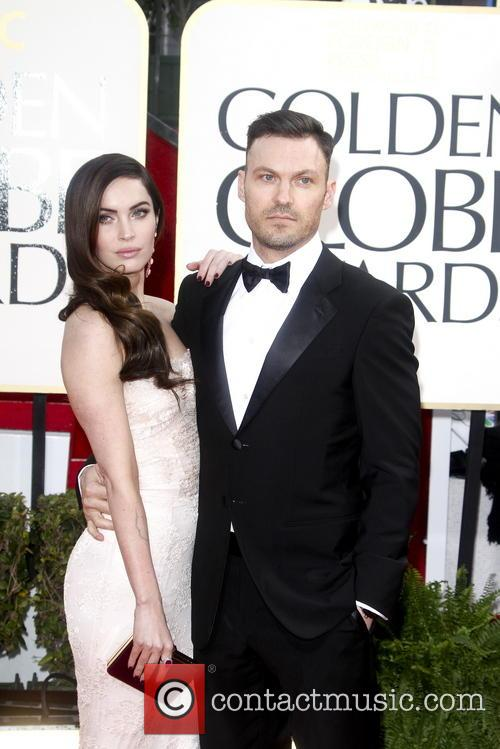 Megan Fox and Brian Austin Green at the Golden Globes