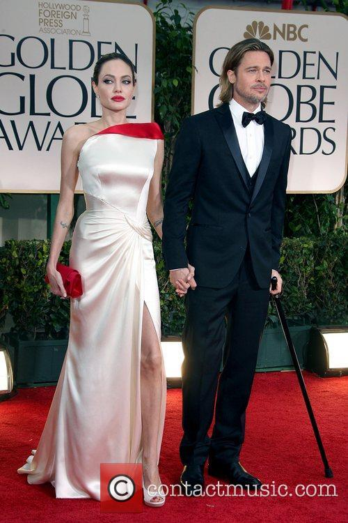 Angelina Jolie, Brad Pitt, Golden Globe Awards and Beverly Hilton Hotel 3