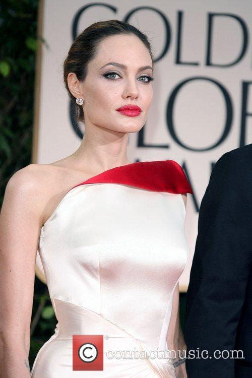 Angelina Jolie, Golden Globe Awards and Beverly Hilton Hotel 1
