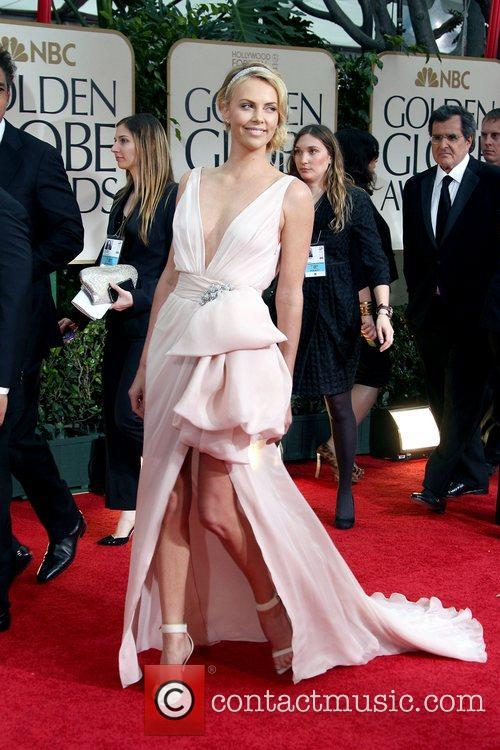 Charlize Theron, Golden Globe Awards and Beverly Hilton Hotel 1