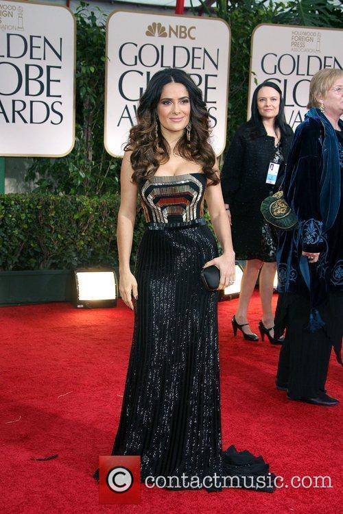 Salma Hayek, Golden Globe Awards and Beverly Hilton Hotel 1