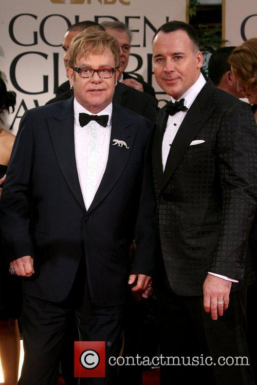 Elton John, David Furnish, Golden Globe Awards and Beverly Hilton Hotel 2