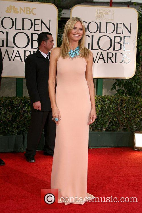 Heidi Klum, Golden Globe Awards and Beverly Hilton Hotel 2