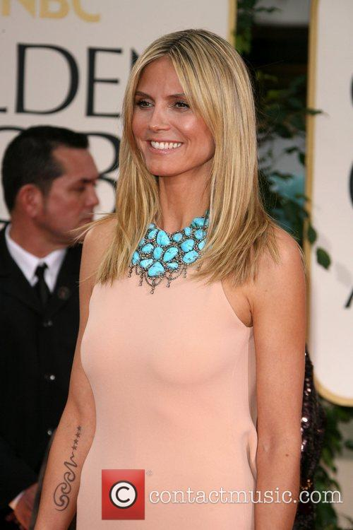 Heidi Klum, Golden Globe Awards and Beverly Hilton Hotel 1