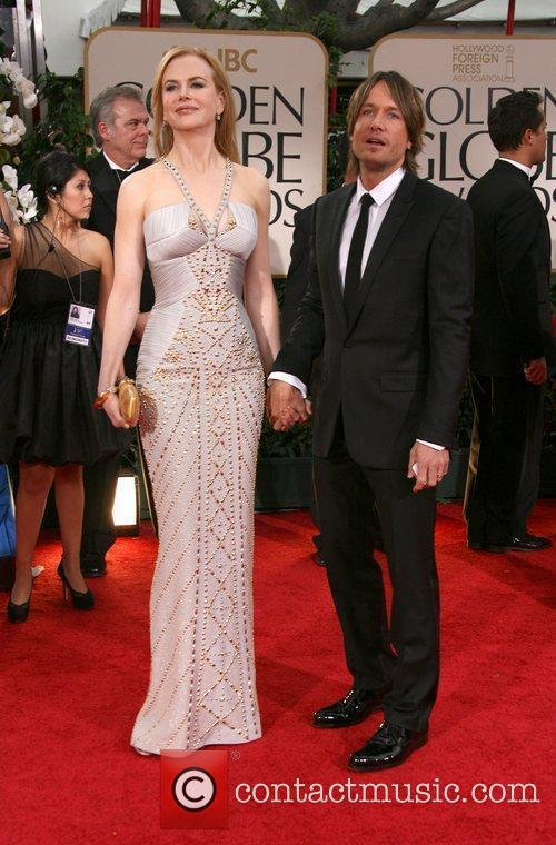 Nicole Kidman, Keith Urban, Golden Globe Awards and Beverly Hilton Hotel 1