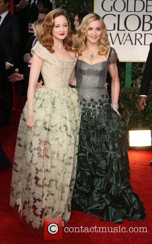 Andrea Riseborough and Madonna The 69th Annual Golden...