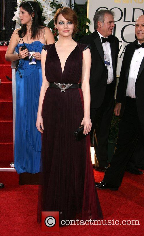 Emma Stone, Golden Globe Awards and Beverly Hilton Hotel 1