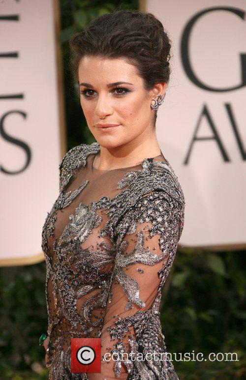 Lea Michele, Golden Globe Awards and Beverly Hilton Hotel 1