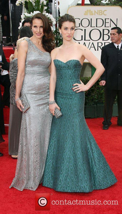 Andie Macdowell, Rainey Qualley, Golden Globe Awards and Beverly Hilton Hotel 1