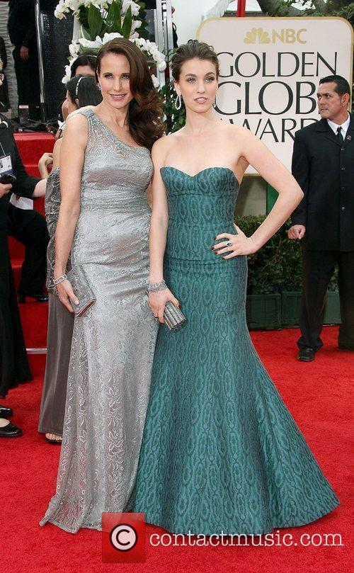 Andie Macdowell, Rainey Qualley, Golden Globe Awards and Beverly Hilton Hotel 2