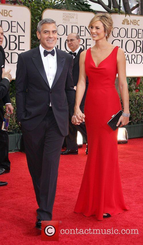 George Clooney, Stacy Keibler, Golden Globe Awards and Beverly Hilton Hotel 1