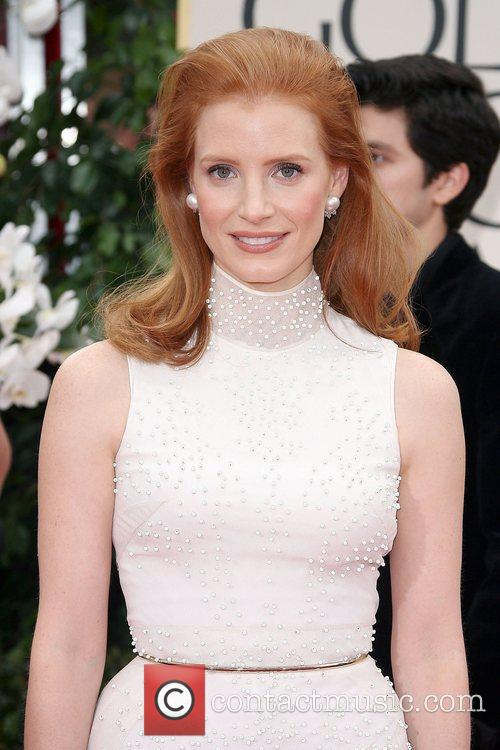 Jessica Chastain, Golden Globe Awards and Beverly Hilton Hotel 2