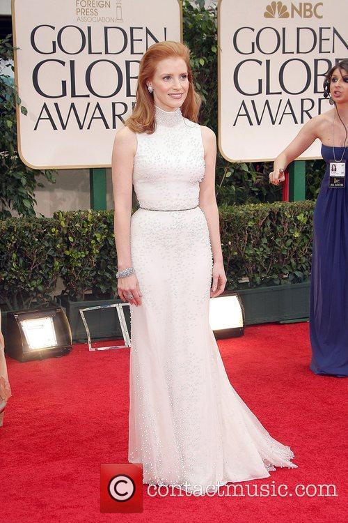 Jessica Chastain, Golden Globe Awards and Beverly Hilton Hotel 3