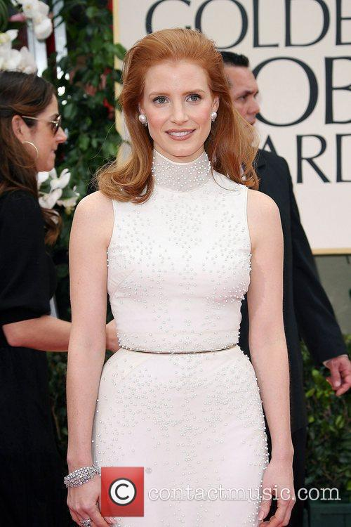 Jessica Chastain, Golden Globe Awards and Beverly Hilton Hotel 4